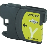 Brother Ink Cartridge LC67HY-Y Yellow HiCapacity