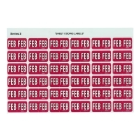 Avery Coding Label Month PK180 43402 (FEB) 25x38mm Red