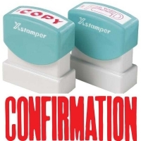 XSTAMPER STAMP - Confirmation (Red) 1022 (5010220)