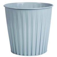 Esselte 30492 Elements Fluteline Metal Waste Bin 15L Lt Grey