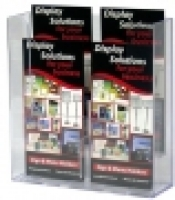 Deflecto Brochure Holder Wall Mount DL 2Tier/2Wide (4Poc) 39106