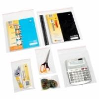 Marbig 845140 Self Seal Resealable Poly Zip Bag 305x230 PKT100