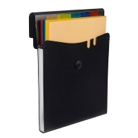 Marbig Professional Expanding Vertical File 5 Pocket BX6 Black