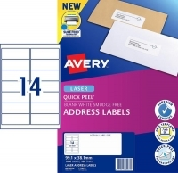 Avery Laser Label L7163 BX100 sheets 14/sheet