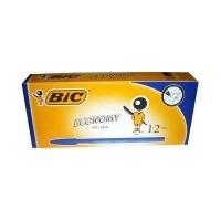 BIC ECONOMY BALLPOINT PENS 0114 BX12 Fine Blue