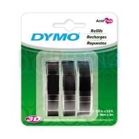 Dymo Embossing Tape 9mm x 3M (Pkt3) Black