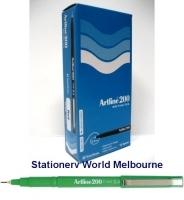 Artline Fineliner Marking Pens No 200 (0.4mm) BX12 Green