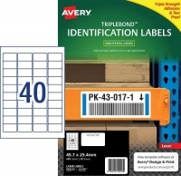 Avery L6140 Triple Bond Industrial Labels PK10sh 40/sh