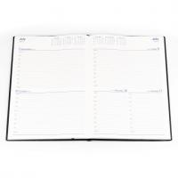 2021 Belmont Diary 247 A4 2 Days to a Page PVC Black