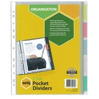 Divider A4 PVC Insertable Pocket 5Tab 35080