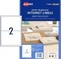 Avery TrueBlock Internet Shipping Labels L7168 2/sh PK10