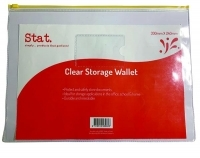 STAT Doc Wallet Resealable PVC 330x240mm 43962 Clear
