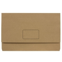 Marbig Enviro Kraft Document Wallet Manilla Fscap 4003104 PK10