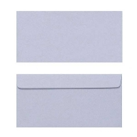 Quill Envelope 80gsm DL 110x220 Pack 25 - Grey