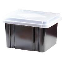 Italplast Storage Box 32 litre 307LRecycled Black+ClearLid
