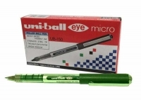 Uniball UB150 Micro 0.5 Eye Liquid Ink Rollerball Pen BX12 Green