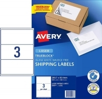 Avery Laser Label L7155 BX100 3/sheet