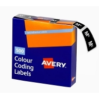 Avery Coding Label Alpha BX500 43227 (Mc) 25x38mm Wht Blk