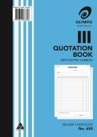Quotation Book Duplicate A4 100LF Olympic 650
