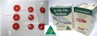 Ty-Tite Fasteners Box of 200 sets of 2piece fasteners