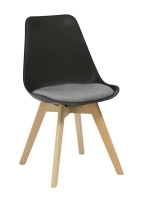 Rapidline Virgo Hospitality Chair Black with Grey Pad