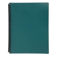 STAT Display Book A4 20 pocket PP Refillable PK10 Green
