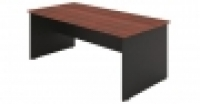 DDK Accent Desk 1800x900mm Red Gum Top & Silver Sides