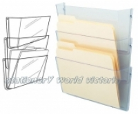 Deflecto Stackable Wall Pocket A4 Clear (Set of 3) 63601