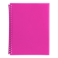 Marbig A4 Refillable Display Book 20pocket 2007309 Pink