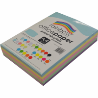 Rainbow Colour Copy Paper A4 80gsm Pastel Asstd (ream-500sheets)