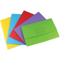 STAT DOCUMENT WALLET FOOLSCAP Manilla Assorted Pack of 25