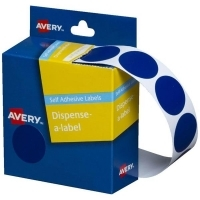 Avery Dispenser Label 24mm Blue BX500