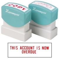 XSTAMPER STAMP - This Account Is Now Overdue 1344 (5013440)