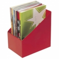 Marbig Book Boxes 8005803 Large: 170Wx250Dx270H (mm) Pkt5 Red
