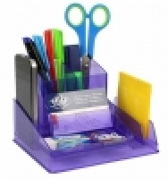 Italplast Desk Tidy Organiser i35PR Tinted Purple