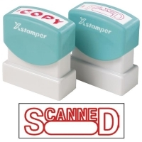 XSTAMPER STAMP - Scanned with Date (Red) 1197 (5011972)