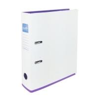 Bantex 2 Tone Lever Arch File A4 White/ Lilac Trim BX10
