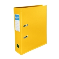 Bantex Lever Arch File PVC A4 Vibrant Colours 1450-06 Yellow