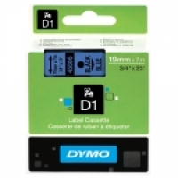 Dymo Labelling Tape D1 19mm x 7M 45806 Black on Blue