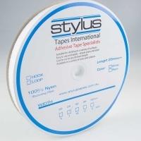 Stylus Hook & Loop Fastener 25mm x 25M White LOOP ONLY