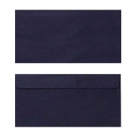 Quill Envelope 80gsm DL 110x220 Pack 25 - Black