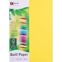 Quill Coloured Paper A4 80gsm Pack 500 - Lemon