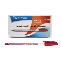Papermate Inkjoy 100 Pens BX12 (ClearBarrel) 1.0 Red