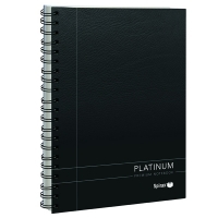Spirax 401 Platinum A5 Notebook 200 Pages Black PK5