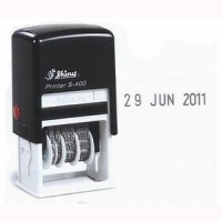 Shiny Self-Inking Date Stamp S400 4mm Mini