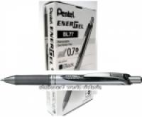 Pentel Energel Deluxe Retrac.Gel Pen BX12 BL77A Black