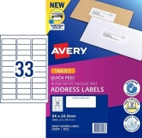 Avery Inkjet Label J8157 PK50 33/sheet
