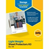 Marbig Sheet Protector Pockets A5 BX100 25106