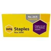 Marbig Staples 90300 Standard 26/6 BX5000