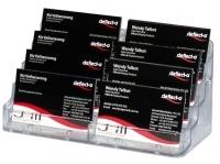 Deflecto Business Card Holder Landscape 8pocket 70801 Clear